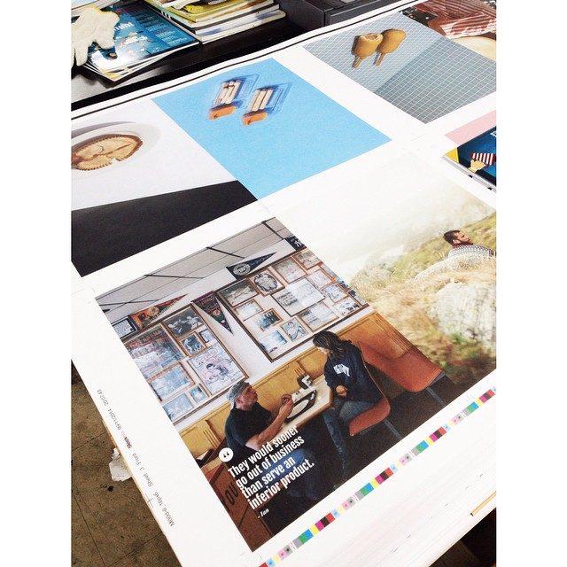 Mood Magazine being printed