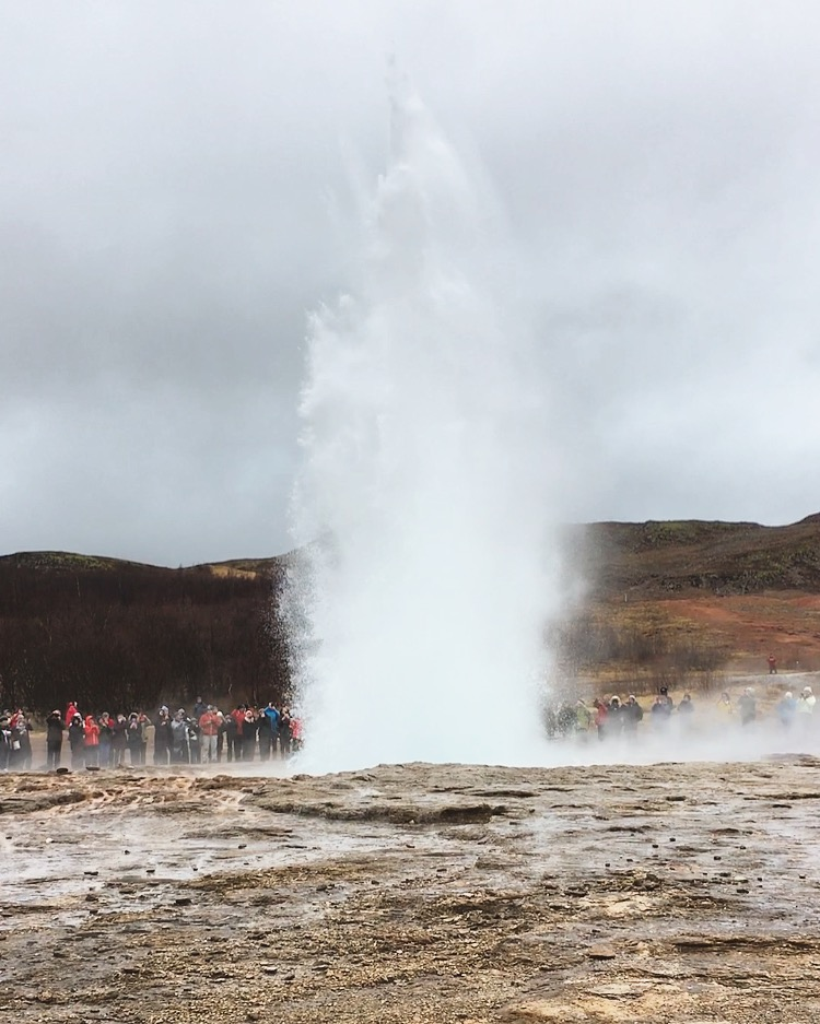 Eruption with an audience